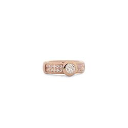 melano Ring mit Steinbesatz rot 58