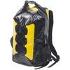 Semptec Wasserdichter Trekking-Rucksack aus Lkw-Plane, 30 Liter, gelb/schwarz