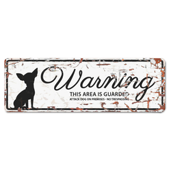 D&D Warntafel Mini Chihuahua Englisch weiß