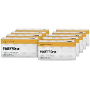 AmazonCommercial Toilettenpapier, 3-lagig, hochwertig, 72 Rollen