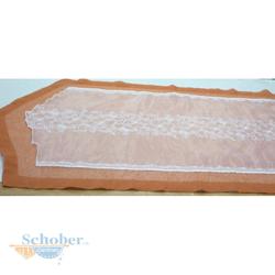Tischläufer Läufer Tischband Tischdecke fertig genäht creme rost, 53 x 172 cm