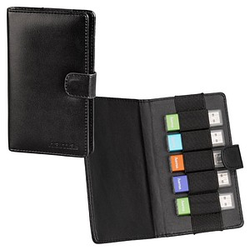 hama 5er USB-Stick-Tasche Vegas schwarz
