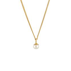 Elli Elli Halskette Anhänger Süßwasserzuchtperle Schlicht 925 Silber