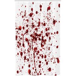 Abakuhaus Duschvorhang Badezimmer Deko Set aus Stoff mit Haken Breite 120 cm, Höhe 180 cm, Blutig Blutspritzer Scary