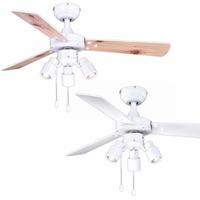 Pepeo Cyrus 107 cm Deckenventilator weiß mit Licht
