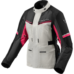 Revit Outback 3 Dames motorfiets textiel jas, pink-zilver, 36 Voordonne