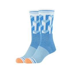Fun Socks Socken Lurex Cubes (2-Paar) mit coolem Retro-Muster