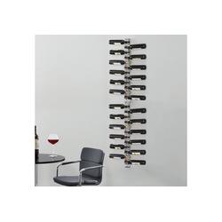 en.casa Weinregal, Pfalz Weinständer für 24 Flaschen Edelstahl 5 cm x 200 cm x 7 cm