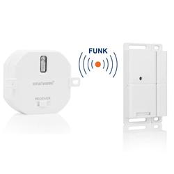 smartwares Smarter Kontaktsensor, FUNK SET: Fenster-Kontaktschalter für Dunstabzugshaube, Kamin & Unterputz Einbauschalter, Smart Home Geräte