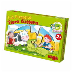 Haba Puzzle 1,2 Puzzelei Tiere Füttern 20 tlg., 20 Puzzleteile