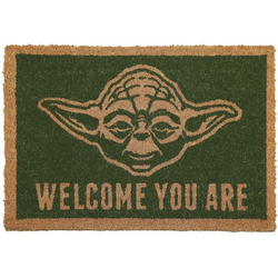 Fußmatte Star Wars Fußmatte Türmatte Yoda Welcome you are, empireposter, rechteckig, Höhe 20 mm