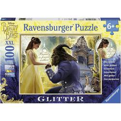 Ravensburger Puzzle Puzzle 100 Teile XXL Die Schöne und das Biest, Puzzleteile
