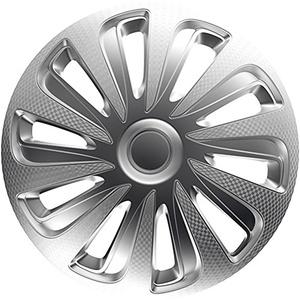 ZentimeX Z778387 Radkappen Radzierblenden universal 16 Zoll Silver