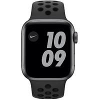 Apple Watch SE Nike GPS + Cellular 40 mm Aluminiumgehäuse space grau, Nike Sportarmband anthrazit/schwarz