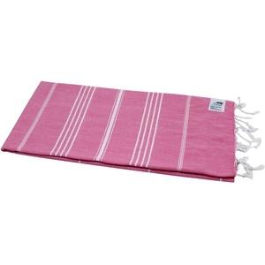 my Hamam Hamamtuch Hamamtuch Sultan pink mit weißen Streifen (1-St), pflegeleicht und platzsparend