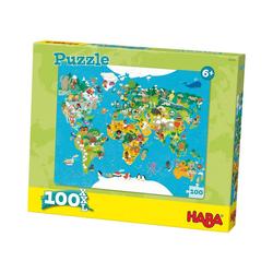 Haba Puzzle HABA 302003 Puzzle 100 XL Teile - Weltkarte, Puzzleteile