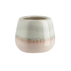 Vase ¦ rosa/pink ¦ Steingut Ø: 12.8
