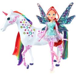 Winx Puppe zu Pferd Bloom Tynix und Elas