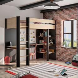 Gami Etagenbett DUPLEX, mit integriertem Schreibtisch