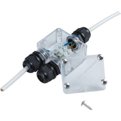 Verteiler 2 fach Außenbereich IP67 230V Kabelverteiler max. 2300W
