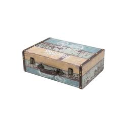 HMF Aufbewahrungsbox Vintage Koffer, aus Holz, Deko Fahrrad, 38 x 26 x 13 cm