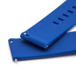 vhbw Ersatz Armband passend für Garmin Vivoactive 3, Vivomove, Vivomove HR Fitness Uhr, Smart Watch - 12.2cm + 8.5cm Silikon blau