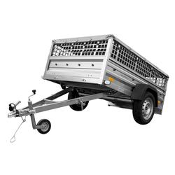 PKW-Anhänger 750 kg Garden Trailer 205 mit Laubgitteraufsatz, Stützrad und Flachplane 200x125