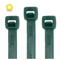 RheVeTec RheFLEX Kabelbinder Kabelbinder UV Solar 100 Stück, Grün UV stabilisiert 250 x 7,6 mm