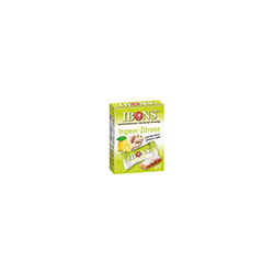 IBONS Kaubonbons Ingwer-Zitrone Box 60 g