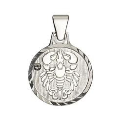 Firetti Sternzeichenanhänger runde Form, diamantiert, mit Kristallstein 4
