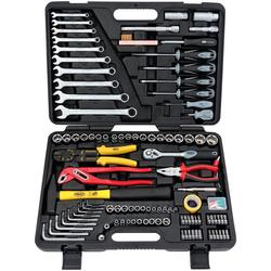 FAMEX Werkzeugkoffer 140-38, 192-tlg. Set, für KFZ und Haushalt schwarz