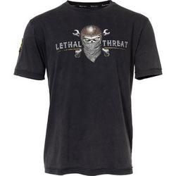 Lethal Threat Skull Bandana T-Shirt beige XXL