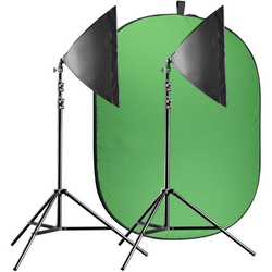 walimex pro Video Greenscreen Set Einsteiger flexi Camcorder