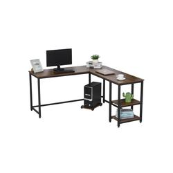 HOMCOM Computertisch Computertisch in L-Form