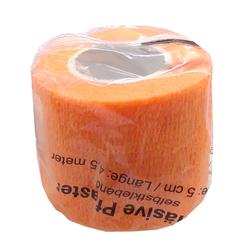 Kohäsive Pflaster Fixierbinden Tape Pflasterverbände Breite 5 cm Länge 4,5 m Orange