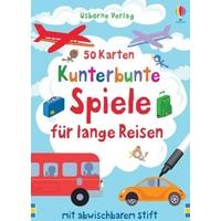 Usborne Verlag 50 Karten - Spiele für lange Reisen