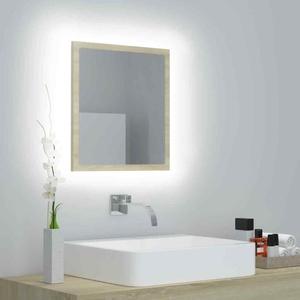 vidaXL LED Badspiegel Sonoma-Eiche 40x8,5x37cm Badezimmerspiegel Lichtspiegel