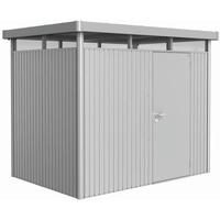 2,75 x 1,95 m silber-metallic Einzeltür