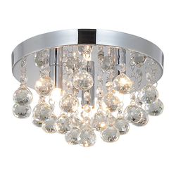 style home Kronleuchter, Kristall Deckenleuchte 3 Flamming Hängeleuchte ohne Leuchtmittel, Ø25cm