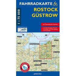 Fahrradkarte Rostock Güstrow 1 : 75 000