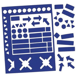 Magnetsymbole 10mm Set mit 70 Symbolen blau