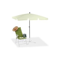 relaxdays Sonnenschirm Rechteckiger Sonnenschirm für den Garten