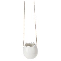 matches21 HOME & HOBBY Blumentopf Übertopf Eierschalen Optik Keramik weiß 5,5 cm (1 Stück) weiß 5.5 cm x 5.5 cm