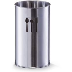 Zeller Küchenutensilienhalter, Ø 10 x 18,5 cm, Ideal zur Aufbewahrung von Besteck und Küchenutensilien geeignet, Material: Edelstahl