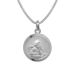 Kinder-Halskette mit Schutzengel-Anhänger Silber 925 Halsketten silber Gr. one size