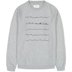 Makia - Waves Light Sweatshirt Light Grey - Sweatshirts - Größe: L