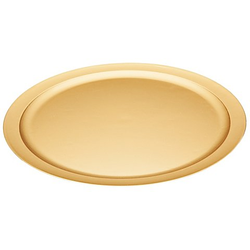 Kunststoff-Teller, gold, 40 cm Ø