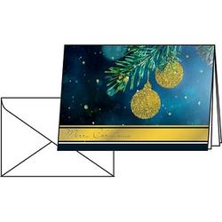 10 SIGEL Weihnachtskarten Golden Glitter DIN A6