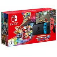 Nintendo Switch neon-rot / neon-blau (Modell 2019) + Mario Kart 8 Deluxe