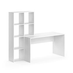 Vicco Regal-Schreibtisch Schreibtisch mit Regal Mara Weiß Raumteiler Computertisch Arbeitstisch